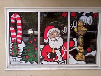11+ Christmas Santa Window Painting